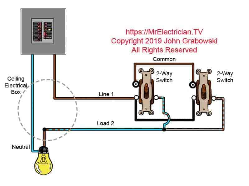 3 Way Switch Wiring Diagrams Mr Electrician