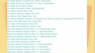 Ford Explorer Stereo Wire Diagram 1998 To 2005 Youtube