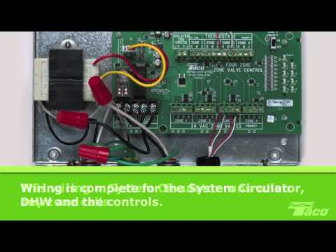 How To Wire A System Circulator To A Taco Zone Valve Control Zvc Youtube