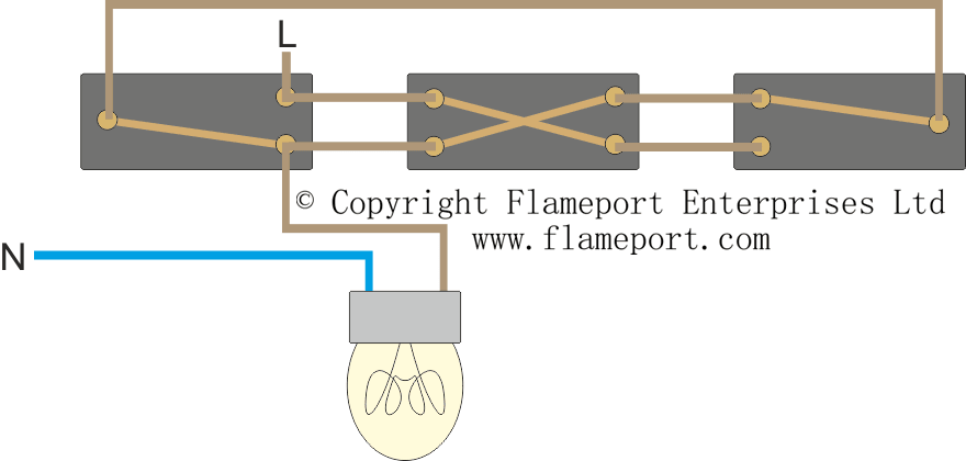 Lighting Circuit Diagrams For 1 2 And 3 Way Switching