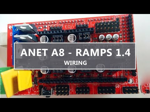 Ramps 1 4 Wiring For The Anet A8 Youtube