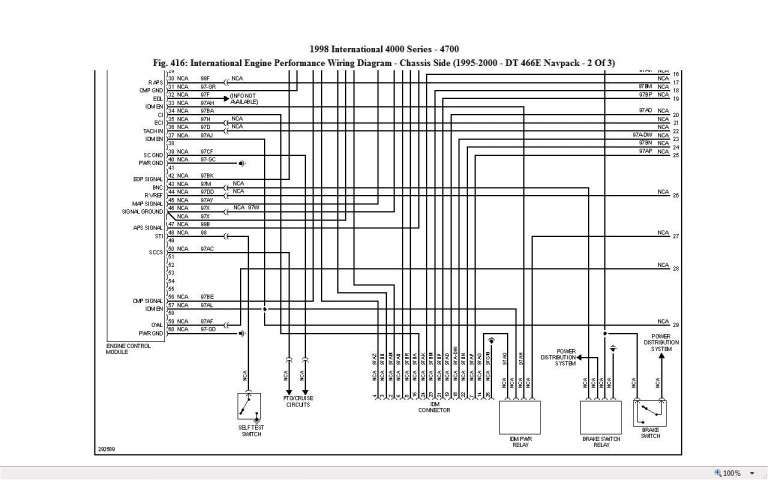 International 4700 Ignition Diagram Wiring Diagrams Source